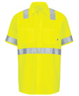 Men's Hi-Vis Ripstop Short Sleeve Work Shirt with MIMIX + OilBlok, Type R, Class 2