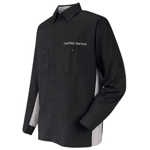 Certified Service Long Sleeve Technician Shirt - Click for Large View