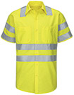 Hi-Visibility Short Sleeve Ripstop Work Shirt - Type R, Class 3