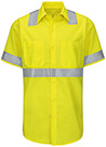 Men's Hi-Visibility Ripstop Short Sleeve Work Shirt - Type R Class 2