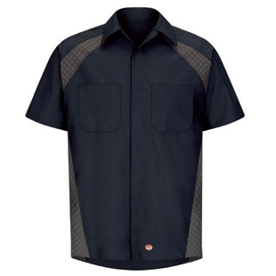 Diamond Plate Short Sleeve Shop Shirt - Click for Large View