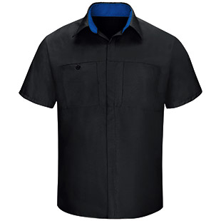 Red Kap Short Sleeve Performance Plus Shop Shirt with OilBlok Technology - Click for Large View