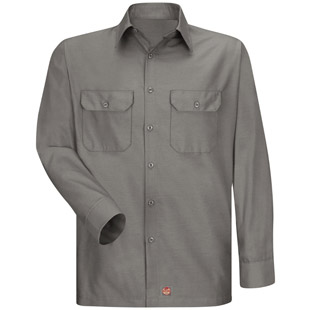 Solid Rip Stop Long Sleeve Shirt - Click for Large View