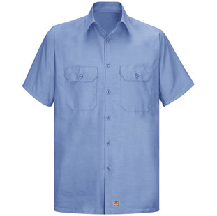 Red Kap Solid Rip Stop Short Sleeve Shirt - Click for Large View