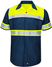 Men's Hi-Visibility Ripstop Color Block Short Sleeve Work Shirt - Type O, Class 1