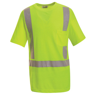 High Visibility Short Sleeve T-Shirt - Class 2 Level 2 - Click for Large View
