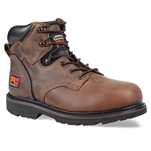 Timberland PRO Pit Boss 6 Inch Steel Toe Brown Work Boot - Click for Large View