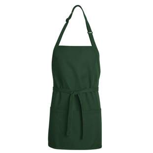 Bib Apron - Short Length with Pockets - Click for Large View