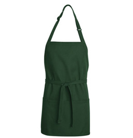 Bib Apron - Short Length with Pockets