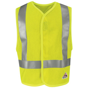 Flame Resistant Hi Visibility Mesh Safety Vest - Click for Large View