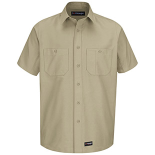 Universal Services Provider Wrangler Workwear Short Sleeve Shirt - Click for Large View
