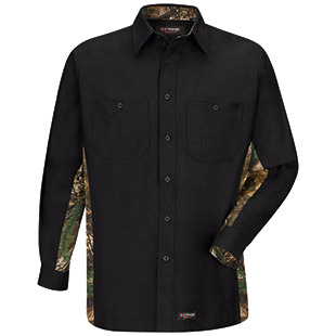 Wrangler Workwear Long Sleeve Camo Work Shirt - Click for Large View