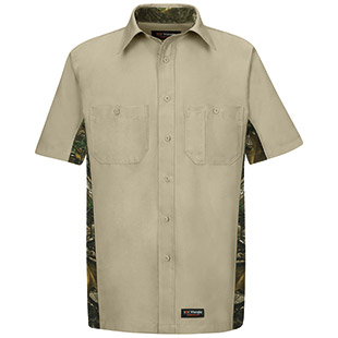 Wrangler Workwear Short Sleeve Camo Work Shirt - Click for Large View