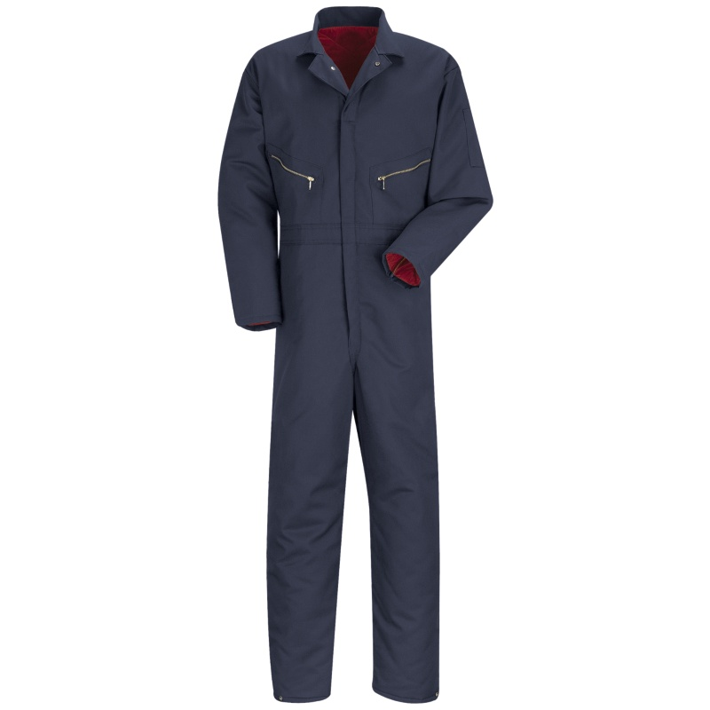 Men S Insulated Navy Blue Twill Coveralls Ct30nv