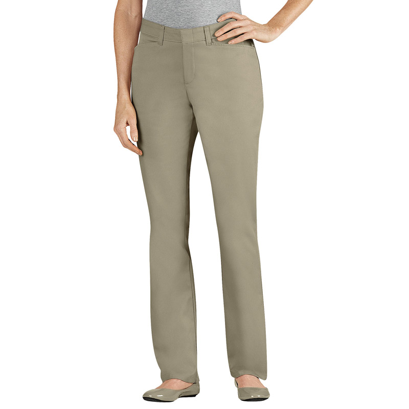 Model Black  Dickies Women39s Curvy Fit Straight Leg Stretch Twill Pant