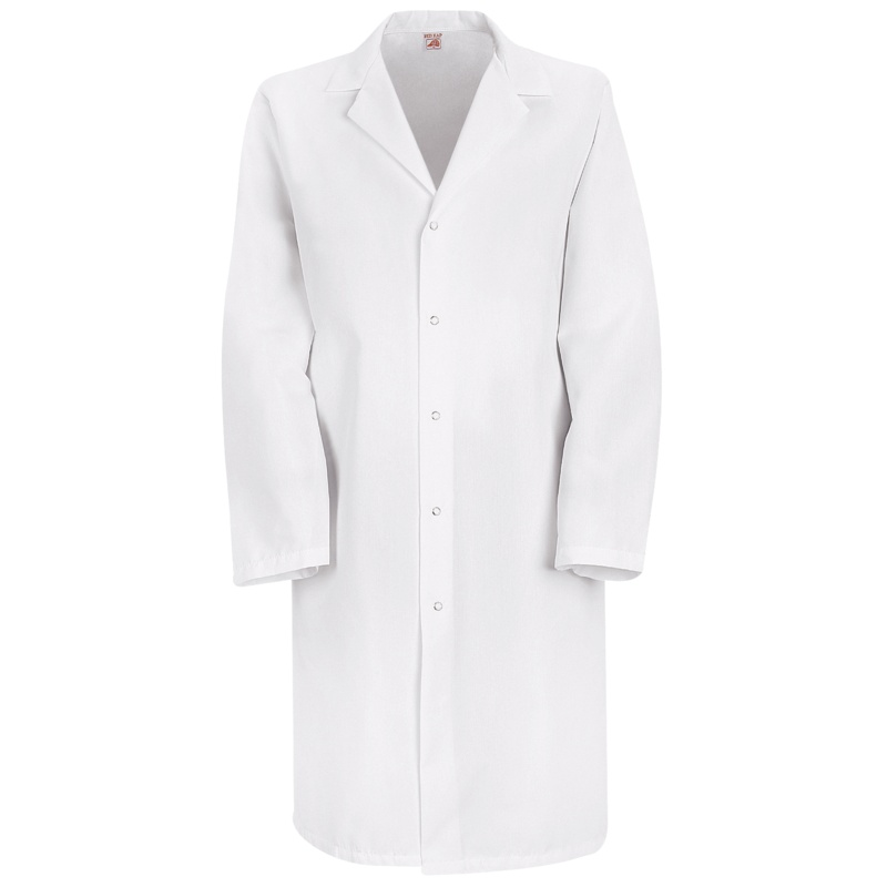 Specialized Gripper Front Pocketless Lab Coat Snaps No