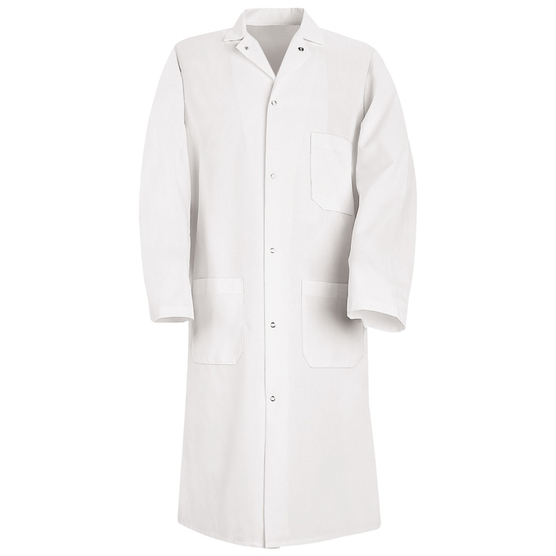 100 Polyester Butcher Frock With Pockets 3 Outside Ks62wh