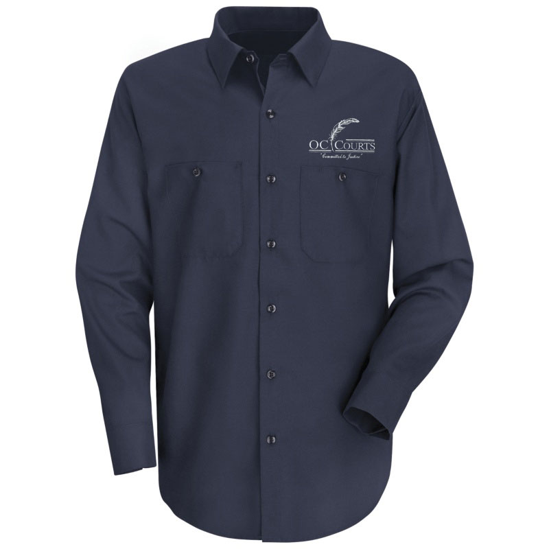 Oc Court 100 Cotton Red Kap Long Sleeve Work Shirt