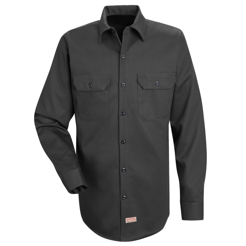 Men 39 S Deluxe Long Sleeve Heavyweight 100 Cotton Shirt Sc70