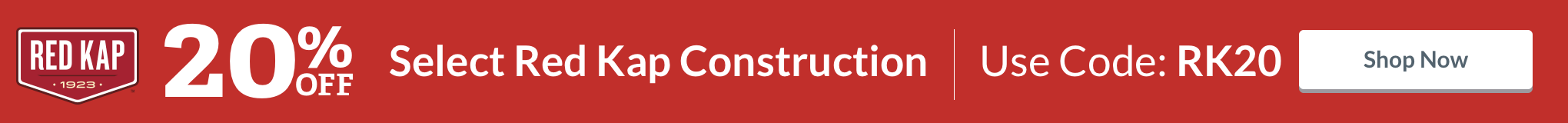 20% Off All Red Kap Construction